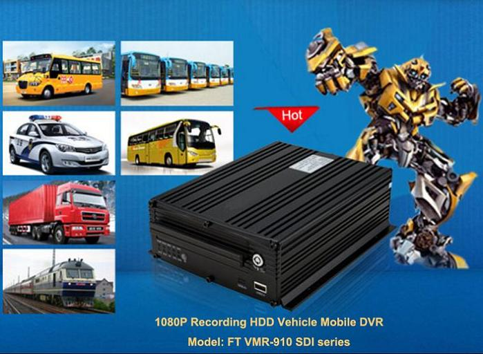 1080P Vehicle HDD Mobile DVR
