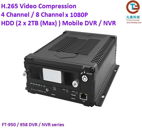 4 Channel 1080p HDD Mobile DVR NVR