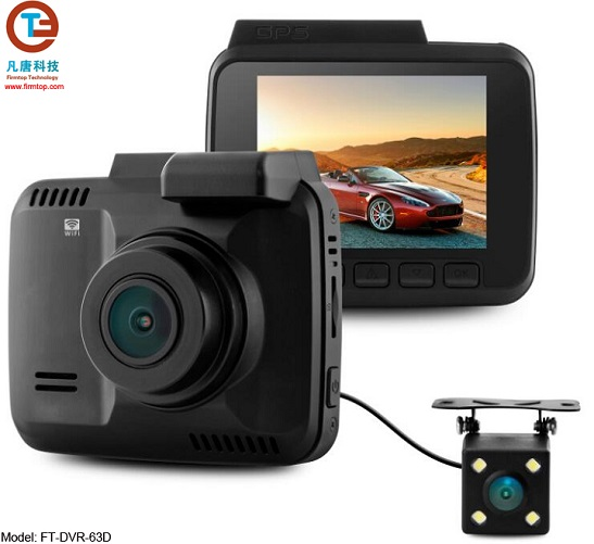 4K Car Video Recorder with Dual-lens