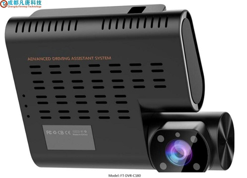 Non-screen 1080P 4G Dashcam with Dual-lens